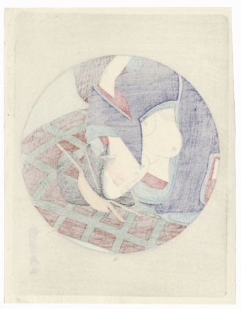 Pillow Print by Toyohiro (1773 - 1828)