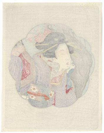 Pillow Print by Kunimasa (1773 - 1810)