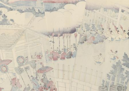 Transfer Ceremony at Ise Shrine by Sadahide (1807 - 1873)