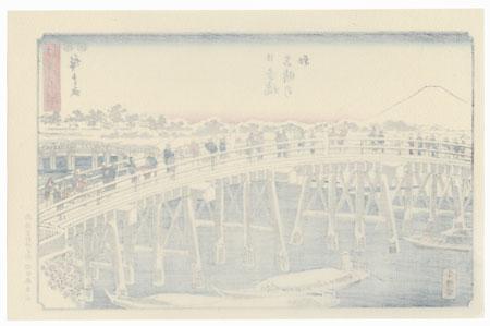 Clear Morning after Snow at Nihonbashi Bridge by Hiroshige (1797 - 1858)