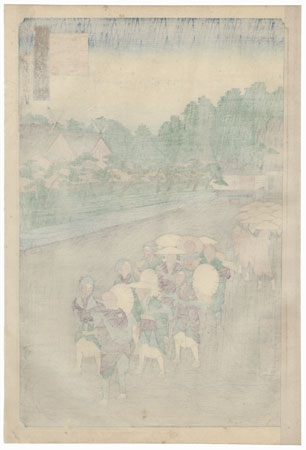 Shiba Shinmei Shrine and Zojoji Temple  by Hiroshige (1797 - 1858)