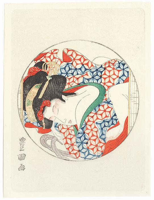 Pillow Print by Toyokuni I (1769 - 1825)