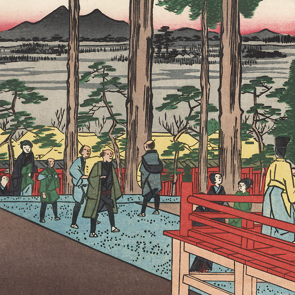 Oji Inari Shrine by Hiroshige (1797 - 1858)
