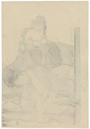 Mother and Baby under Mosquito Netting by Utamaro (1750 - 1806)