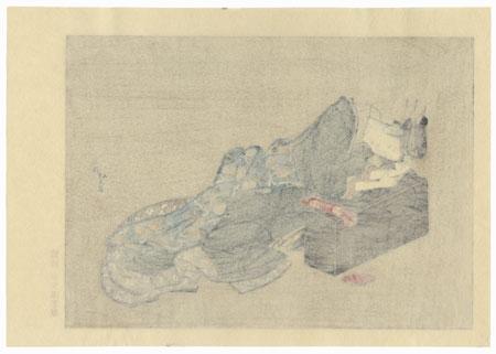 Tipsy Beauty by Hokusai (1760 - 1849)
