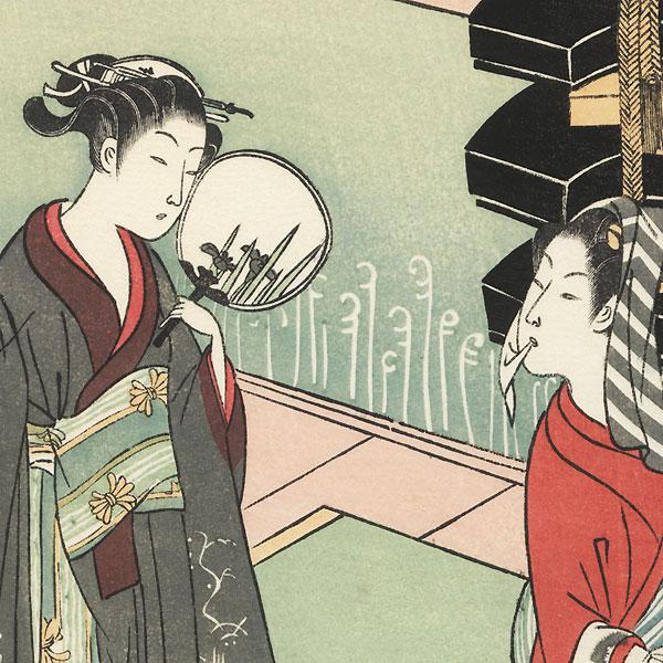 Wild Pinks: The Roko Girl by Harunobu (1724 - 1770)