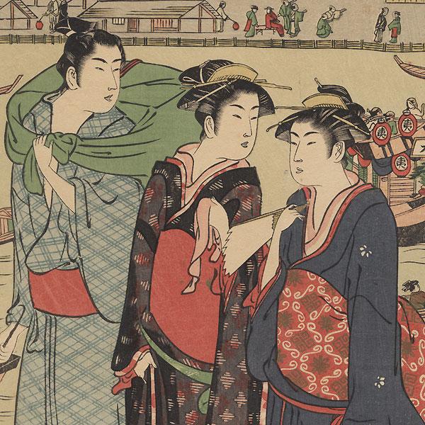 Ryogoku on a Summer Evening by Shunzan (active ca. 1782 - 1798)