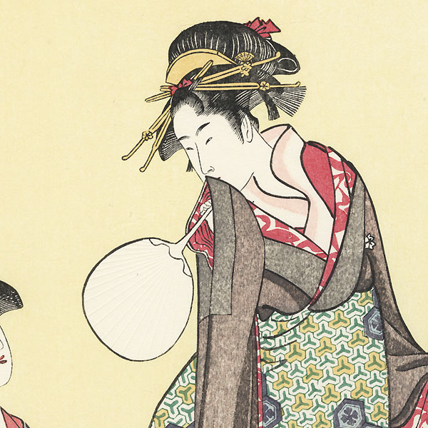 Picture of the Upper Class by Utamaro (1750 - 1806)