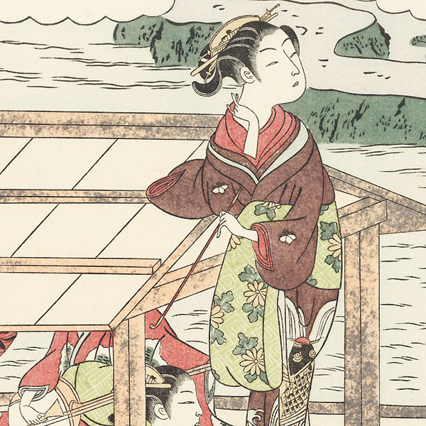Poem by Abe no Nakamaro by Harunobu (1724 - 1770)