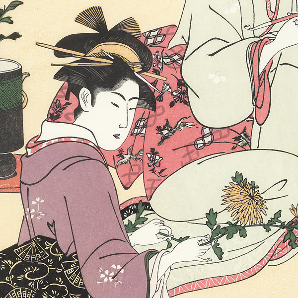 Beauties Arranging Flowers by Toyokuni (1769 - 1825)