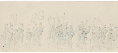 British Soldiers by Edo era artist (unsigned)