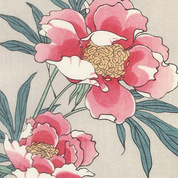 Peonies by Hiroshige (1797 - 1858)
