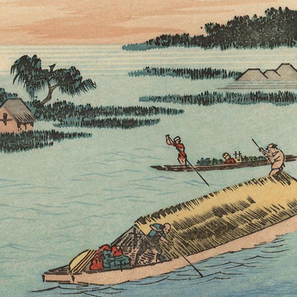 Settsu Province, Yodogawa by Hiroshige (1797 - 1858)