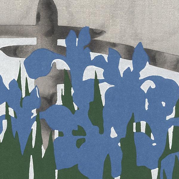 Irises by Kamisaka Sekka (1866 - 1942)