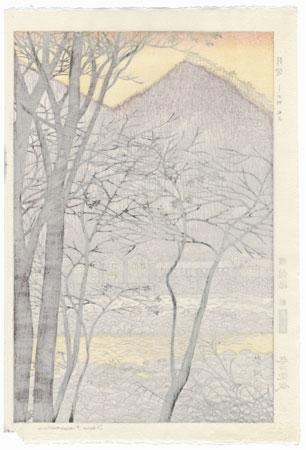 Twilight at Minakami, Joshu, 1951 by Shiro Kasamatsu (1898 - 1991)