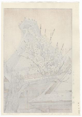White Plum in the Farmyard, 1951 by Toshi Yoshida (1911 - 1995)