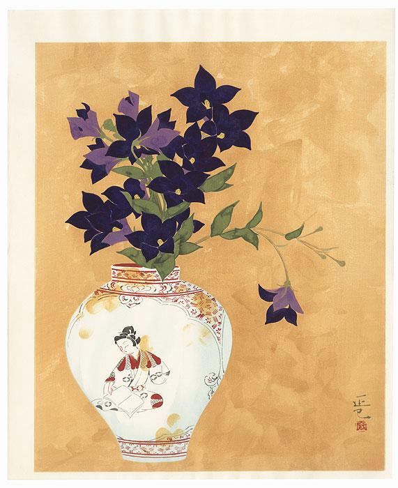 Flowers and Ko-Imari by Iwata Masami (1893 - 1988)