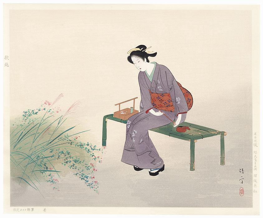 Autumn Garden by Kiyokata Kaburagi (1886 - 1972)