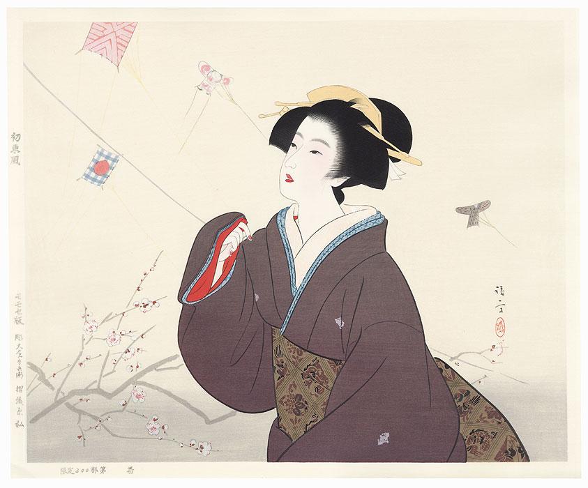 First Easterly Wind by Kiyokata Kaburagi (1886 - 1972)