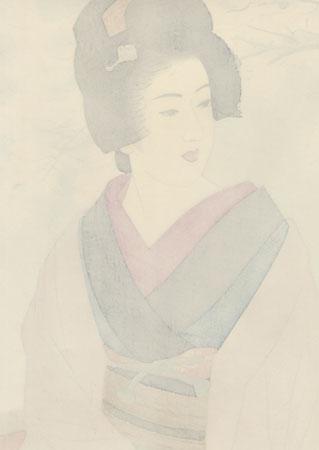 Cherry Blossom Beauty by Ito Shinsui (1898 - 1972)