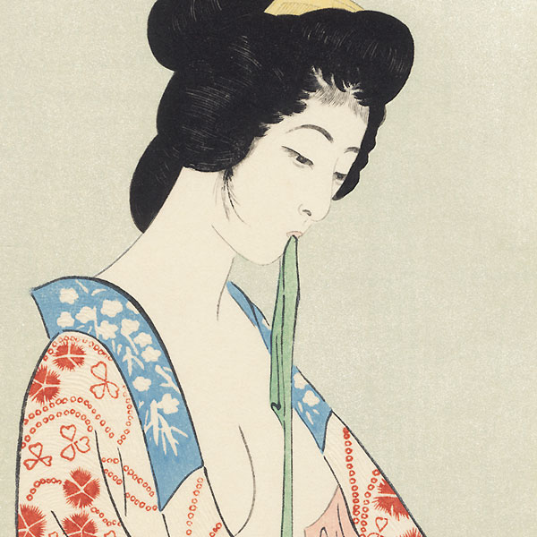 Beauty in a Long Undergarment, 1920 - Limited Edition Commemorative Print by Hashiguchi Goyo (1880 - 1921)