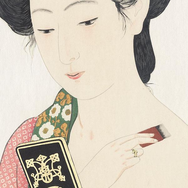 Beauty Applying Powder, 1920 - Limited Edition Commemorative Print by Hashiguchi Goyo (1880 - 1921)