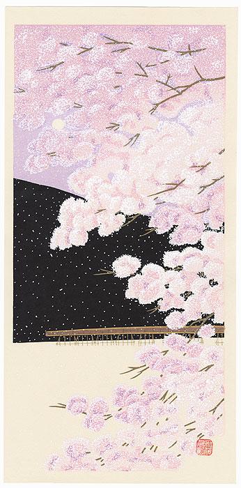 Cherry Blossoms at Arashiyama by Teruhide Kato (1936 - 2015)