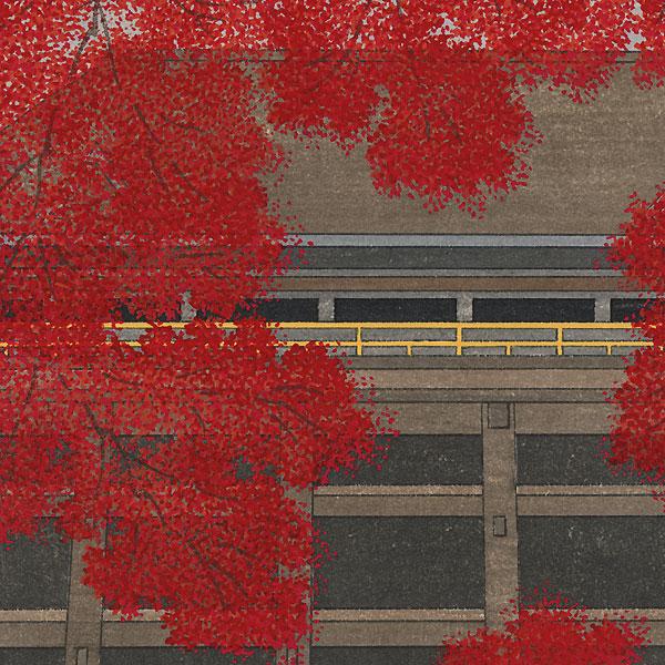 Autumn Leaves at Kiyomizu by Teruhide Kato (1936 - 2015)
