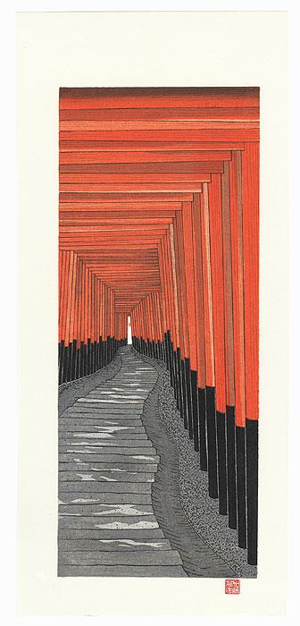 A Thousand Torii Gates at Fushimi Inari Shrine by Teruhide Kato (born 1936)