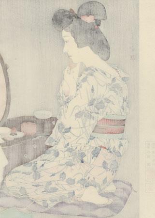Summer Kimono, Iris - Limited Edition Commemorative Print by Torii Kotondo (1900 - 1976)