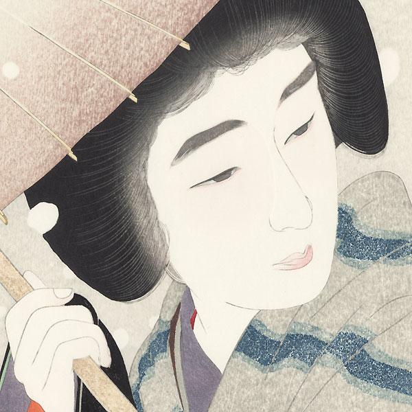 Peony Snowflakes  - Limited Edition Commemorative Print by Torii Kotondo (1900 - 1976)