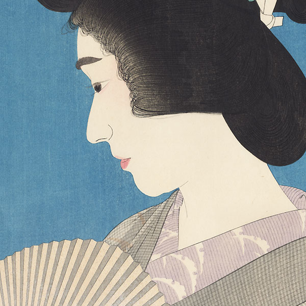 Geisha in Summer Style - Limited Edition Commemorative Print by Torii Kotondo (1900 - 1976)
