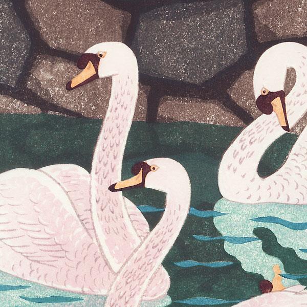 Spring at the Moat, 1957 by Shiro Kasamatsu (1898 - 1991)