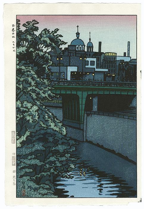 Dusk at Ochanomizu, 1956 by Shiro Kasamatsu (1898 - 1991)