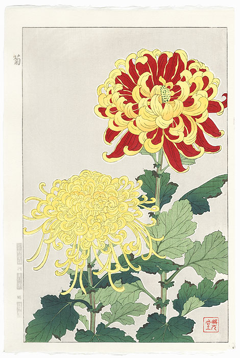 Chrysanthemum by Kawarazaki Shodo (1889 - 1973)
