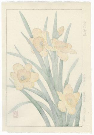 Daffodils by Kawarazaki Shodo (1889 - 1973)
