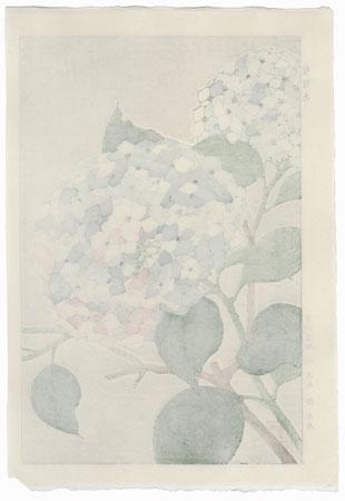 Blue Hydrangea by Kawarazaki Shodo (1889 - 1973)