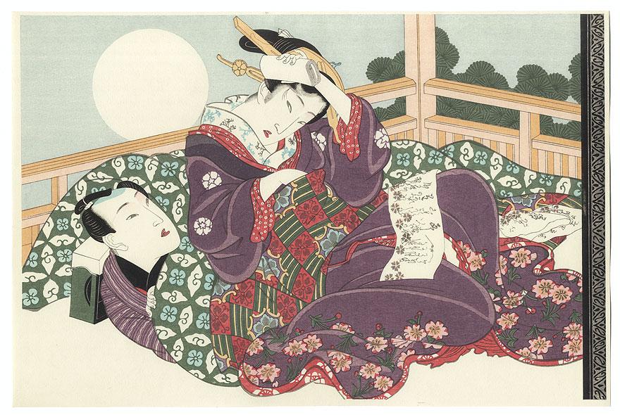 A Full Moon by Eisen (1790 - 1848)