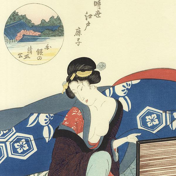 Beauty and Sleeping Child by Toyokuni III/Kunisada (1786 - 1864)