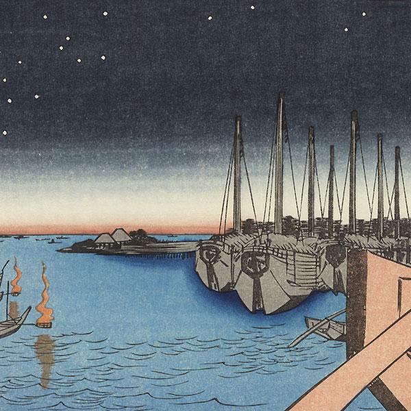 Tsukudajima from Eitai Bridge by Hiroshige (1797 - 1858)