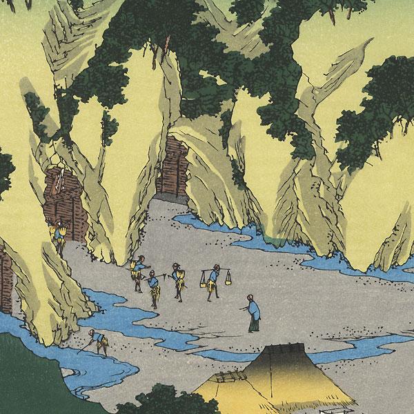 Sado Province, the Goldmines by Hiroshige (1797 - 1858)