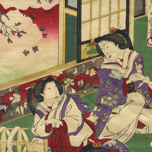 Boiling Cocoons to Release the Silk Thread by Chikashige (active circa 1869 - 1882)