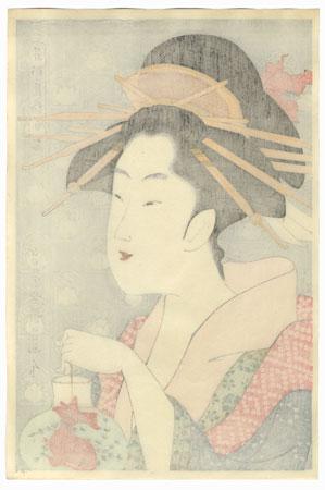 Shiratsuyu of the Teahouse Wakanaya by Eisho (1790 - 1799)
