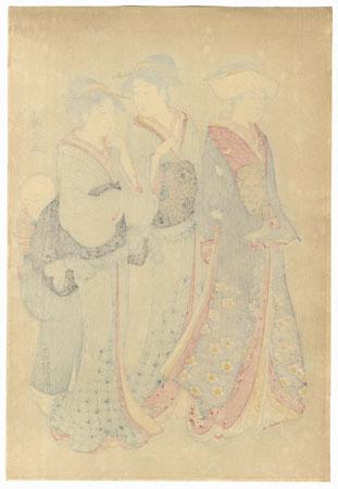 Beauties Strolling by Kiyonaga (1752 - 1815)