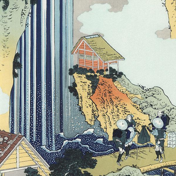 Ono Waterfall on the Kisokaido Road by Hokusai (1760 - 1849)