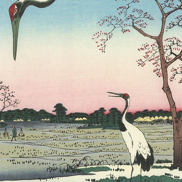 Minowa, Kanasugi, Mikawashima by Hiroshige (1797 - 1858)