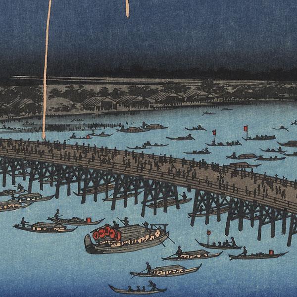 Fireworks at Ryogoku by Hiroshige (1797 - 1858)