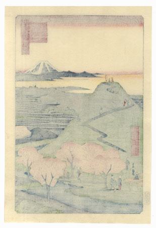 New Fuji, Meguro by Hiroshige (1797 - 1858)