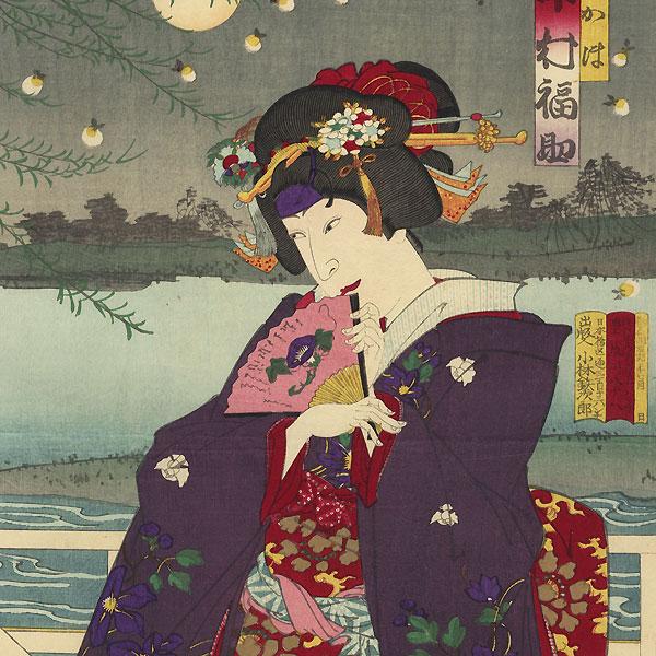 Fireflies on a Summer Night by Kunichika (1835 - 1900)
