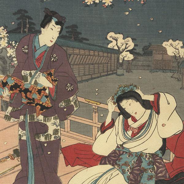 Hana no en, Chapter 8 by Kunisada II (1823 - 1880)